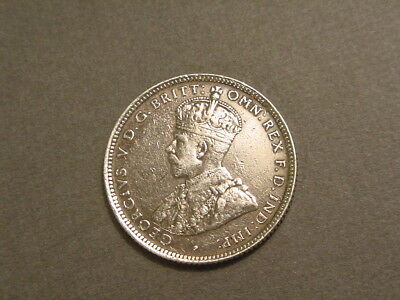 British West Africa~ 1913 Shilling~0.925 Silver Foreign Coin~