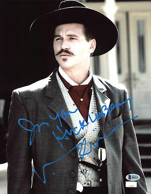 """Val Kilmer Tombstone """"I'm Your Huckleberry"""" Signed 11x14 Photo BAS Witnessed 7"""