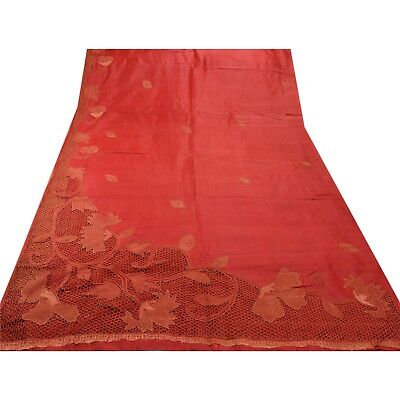 Sanskriti Antique Vintage Saree 100% Pure Silk Hand Beaded Fabric Premium Sari