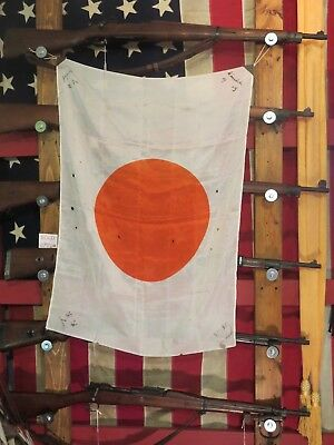 Original WW2 Japanese Meat Ball Flag Small Vintage