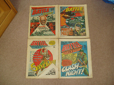 Battle and Valiant/Action annual/comics x 4