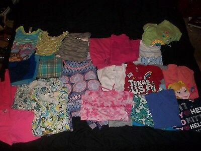 Huge Girls Summer Lot Capris Shrts Shirts Tops Size 10/12 24 Pieces Tcp Limitied