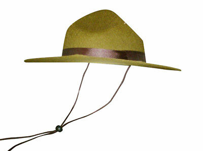Olive Green Park Ranger/Mountie/ Smokey Bear Military Hat One Size-Adult