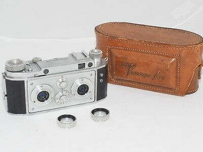 Bush Verascope F40 35mm film stereo 3D camera w/case. Made in France