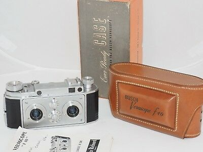 Verascope f40 35mm film stereo 3D camera w/NEW case. Made by Richard in France.