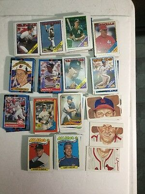 Lot Of 330 Old Baseball Cards. 1987-89 Topps & Donruss