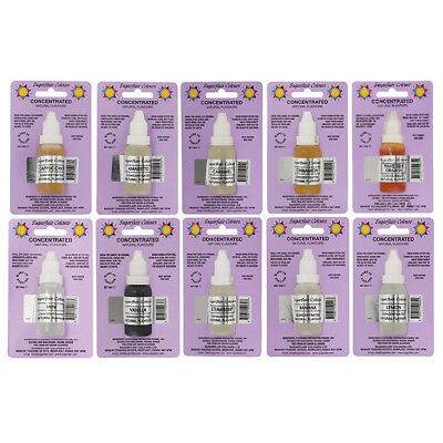 30 x Sugarflair Concentrated Natural Flavour Drops for Cakes Icing and Cookies