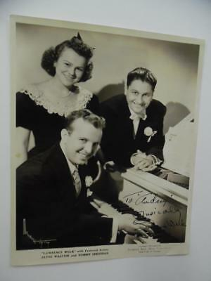 1944 LAWRENCE WELK Signed Inscribed Photo Orchestra Jayne Walton Tommy Sheridan