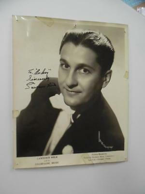 1944 LAWRENCE WELK and his Champagne Music Signed Inscribed Photo Vintage ORIG.