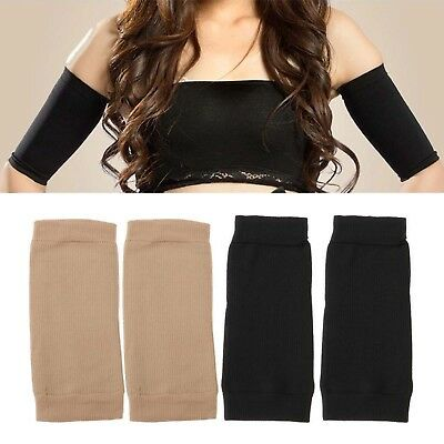 SF 1Pair Arm Slimming Compression Shaper Helps Tone Shape Upper Arms Sleeve Body