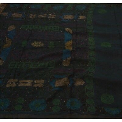 Sanskriti Vintage Saree Pure Georgette Silk Hand Beaded Fabric Premium Sari