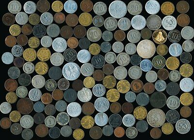 150 OLD GERMAN COINS (SEE THE PICTURES)LATE 1800's EARLY 1900's > NO RESERVE