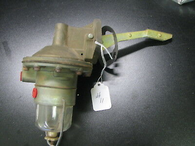 Vintage Antique Glass Bowl Fuel Pump With Filter