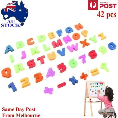 AU 42 Colorful Letters & Numbers Of Fridge Magnets Teaching Magnetic Alphabet Se