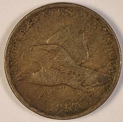 1857 Flying Eagle Cent Coin One 1 Cent Penny Nice Eye Appeal