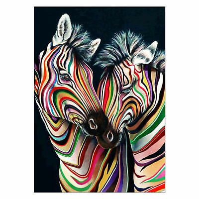 5D Zebra DIY Full Diamond Painting By Number Kits Cross Stitch 30*40Cm AU Seller