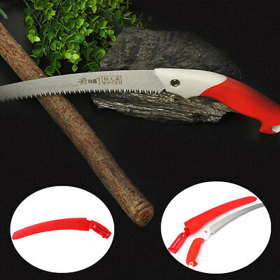 """16.5"""" Pruning Saw Coronary Clipper Steel Curved Blade Scabbard Landscaping Tools"""
