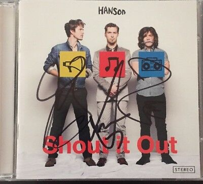 Hanson Shout It Out Cd Signed X 3 Full Band Autographed Rare