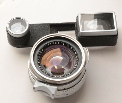 35mm 1:1.4 Version 1 summilux lens, steel front for leica M3 - some faults, read