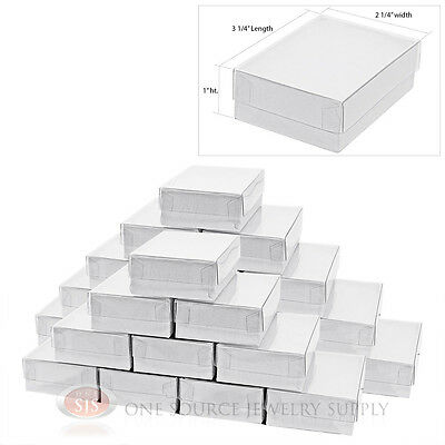 """25 New White Clear View Top Gift boxes 3 1/4"""" x 2 1/4"""""""