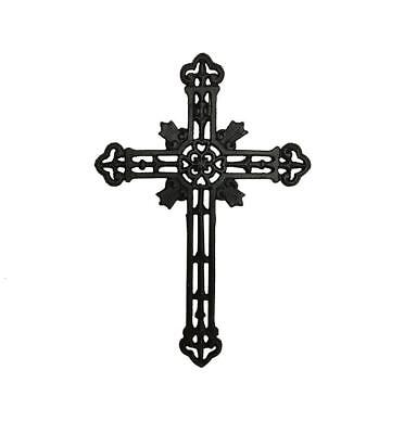 Cast Iron Cross Black/brown Decorative Wall Home Decor