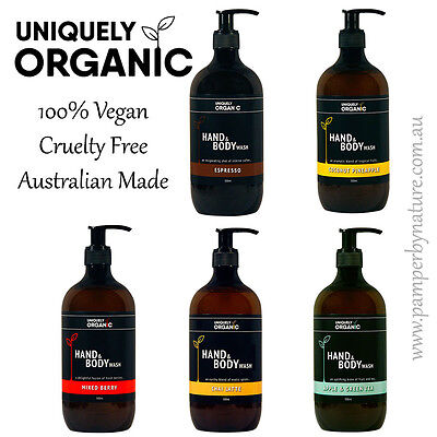 Uniquely Organic Hand & Body Wash 500ml - 5 different scents to choose from
