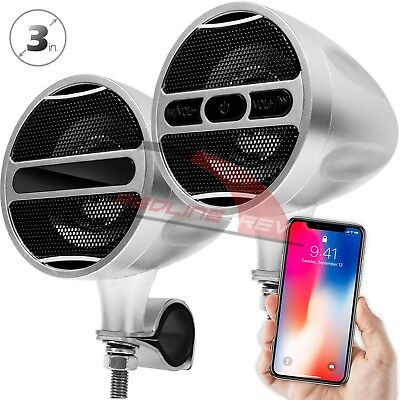 Waterproof Bluetooth Motorcycle Stereo Speakers Audio System USB FM Radio Harley