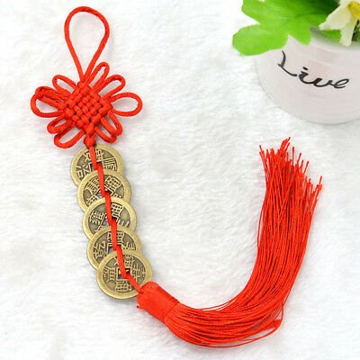 Lucky Coins Chinese Feng Shui Chinese Knot Hanging Ornament Home Decor