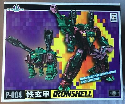 Transformers P-004 IRONSHELL TFC Toys Poseidon Mint in Box Snaptrap Seacon