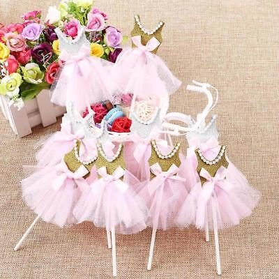 5pcsCake Cupcake Topper Handmade Lovely Princess Skirt Decoration Party Birthday