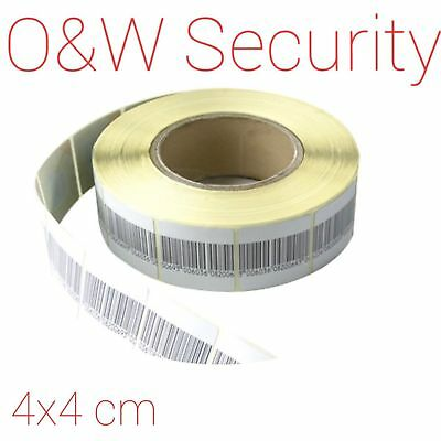 RF Security Label Anti Theft Adhesive Label Tag Barcode 8.2MHz 4x4 cm