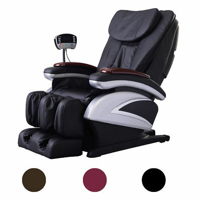 New Electric Full Body Shiatsu Massage Chair Recliner Heat Stretched Foot Rest^