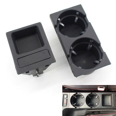 Black Front Center Console Cup Drink Coin Holder For BMW 3 Series E46 98-06 Hot