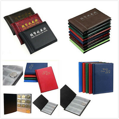 60/120 Coin Own Holders Penny Collection Pocket Storage Money Album Book MD