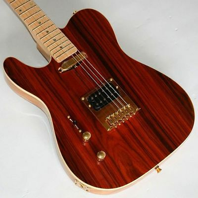 Linkshänder-E-Gitarre,Telematik, Yellow Rosewood, Humbucker, Gold Hardware, G67