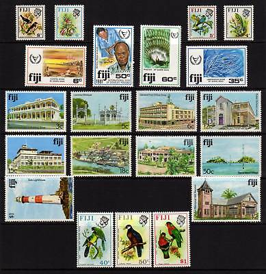 FIJI, 21 MUH Stamps, Full and Part Sets, 1970-80's Era, GC Lot103