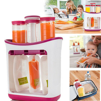 Baby Feeding Food Squeeze Station Infant Fruit Puree Maker Homemade System UK