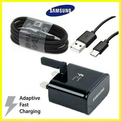 100% Genuine Fast Charger Plug & Usb C Type Cable For Samsung S8 Plus A5 2017