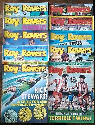Roy of the Rovers UK comics x 10 1988 Lot 16