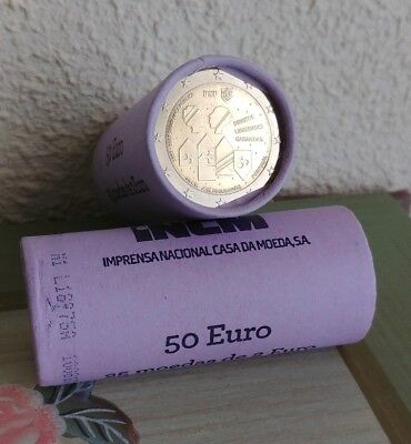 "25X2 Euros Portugal 2017 ""150 Years of the Public Security Police"" Rols"