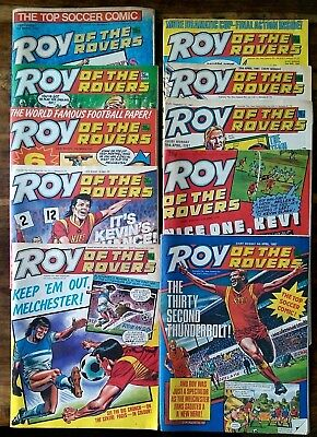 Roy of the Rovers UK comics x 10 1987 Lot 22