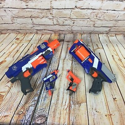 Nerf Gun Bundle Stockade Strongarm Jolt Pistol Full With Ammo Bullets