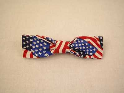 Handmade clip on bow ties- 100% Cotton Small Size (3-7/8 in x 1in)