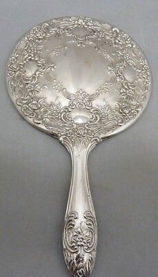 Ornate Vintage Silver Plated Dressing Table Hand Mirror