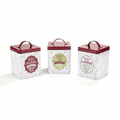 Mind Reader 3 Piece Kitchen Canister Set