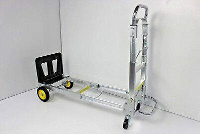 Safco Products 4050 Hide-Away Convertible Utility Hand Truck, Silver