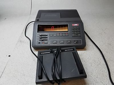 Lanier LCT-5 Dictation Machine Cassette Tape Transcriber w/ Foot Pedal Pulled