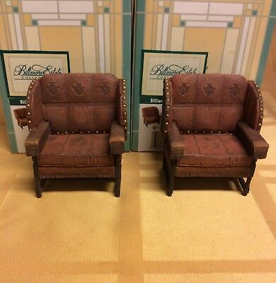 Dollhouse Furniture Billiard Room Chairs 2pc 24029 Take a Seat by Raine Willitts