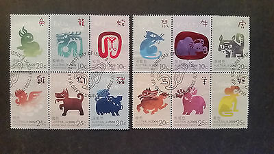 N0-2---2009    Christmas   Island -Year Of  Ox  Sheet Stamps  12  Stamps  --Used