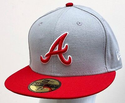 bf9866911a6 NEW ERA MLB 59FIFTY 2TONE FITTED ATLANTA BRAVES Grey Red-White ...
